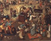 BRUEGEL, Pieter the Elder Battle between carnival and fast oil painting picture wholesale